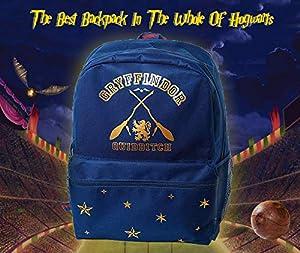 Harry Potter School Bag Gryffindor Backpack for Boys and Girls Quidditch Rucksack for Men and Women