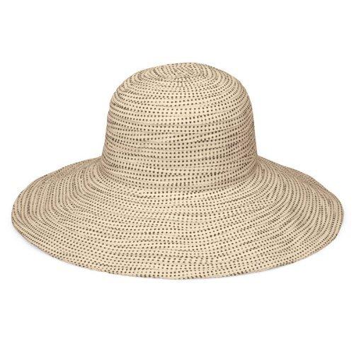 womens-wallaroo-scrunchie-uv-sun-hat-upf50-sun-protection-adjustable-packable-natural-brown-dots-adj