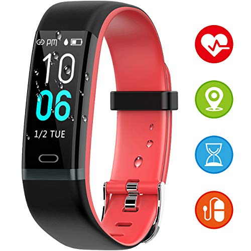 Winisok Fitness Armband mit Pulsmesser Blutdruck, Wasserdicht IP68 Fitness Tracker Smartwatch GPS Aktivitätstracker Pulsuhren Blutdruckmesser Vibrationsalarm Anruf für Damen Männer