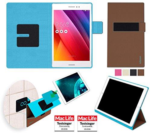 reboon Hülle für Asus ZenPad S 8.0 Z580CA Tasche Cover Case Bumper | in Braun | Testsieger