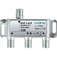 Axing BVE de 01P–Distribuidor Cable Televisión Televisión por cable multimedia DVB-T2Clase A +, 10dB, 5–1218MHz metal