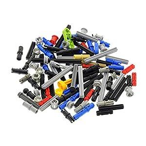LEGO 100 Piezas TECHNIC - Conectores, Varillas, pasadores, Ejes, Pins - Piezas al Azar 4059632016718 LEGO