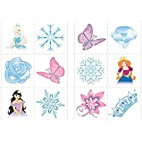 24 x Ice Princess Snow Queen Temporary Tattoos Children Girls Party Bag Stocking Filler Toy