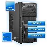 M&M Computer Dresden Multimedia Gaming-PC INTEL, Intel Core i5-7400 Prozessor 4 Kerne, Geforce GTX 1050 Ti Gamer Grafikkarte mit 4GB, 120GB SSD , 8GB DDR4 RAM 2133MHz, Gigabyte Mainboard, DVD-Brenner, MTEC-Gehäuse mit 600Watt Netzteil, Windows10 Home vorinstalliert inkl. Treiber, PC-Kauf-Empfehlung