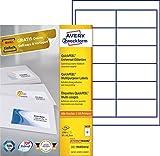 Avery Zweckform 3659 Adressetiketten (A4, Papier matt, 1,200 Etiketten, 97 x 42,3 mm) 100 Blatt weiß