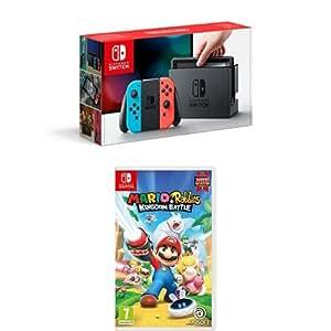 Nintendo Switch Neon with Mario Rabbids