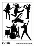 XXL Wandaufkleber Wandtattoo Rock 'n' Roll Band 65x85
