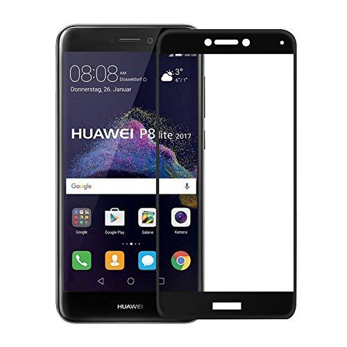 Preisvergleich Produktbild Panzerglas Schutzfolie für Huawei p8 lite 2017,  2 Stück Panzerglas 9H Härtegrad für p8 lite 2017,  Ultra Transparenz Full HD,  Blasenfrei,  Anti-Fingerabdruck,  Displayschutzfolie für p8 lite 2017