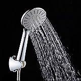 KangHS Ducha de mano/Ducha de mano Cabezal de ahorro de agua Abs Cabezal de ducha redondo Ducha de lluvia cromada Rociador de baño Khs02