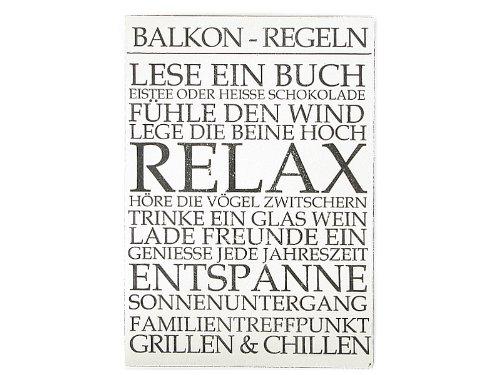 WANDTAFEL Shabby BALKON REGELN Landhaus Sommer Dekoration Holzschild Vintage
