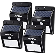 Focos Solares 8 LEDs de Pared, Mpow Faro Solar con Sensor de Movimiento, Lámparas Solares al Aire Libre para Jardín Patio Camino de Entrada Escaleras y Iluminación Exterior 4