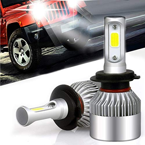 Preisvergleich Produktbild Auto-Scheinwerfer-Lampen-Kit,  verbesserte helle weiße Scheinwerfer-Birne,  72W 8000LM 6000K Scheinwerfer-Birnen-Doppel-Hallo / Lo-Strahl (2pcs / set) (H7)