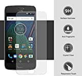 #10: Jarvis™ Tempered Glass Screen Protector Screen to Screen Fit Full 9H Hardness 3D Curved Bubble Free Anti-Scratch HD+ Screen Guard Crystal Clarity 3D Tempered Glass For Moto G5s+ (Transparent)