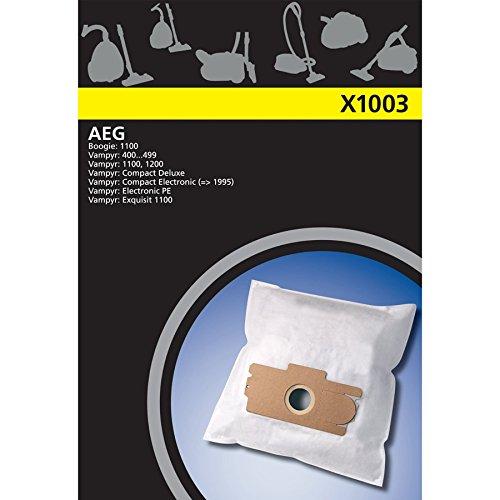 Electrolux X1003 X estándar 4 bolsas de la aspiradora Sintéticos para AEG Vampyr compacto, GR13