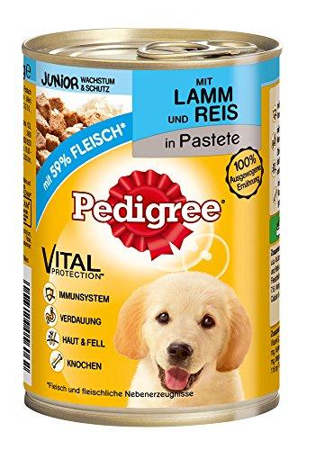 Pedigree Junior Hundefutter Lamm und Reis, 12 Dosen (12 x 400 g) - 2