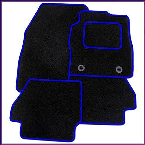 VW POLO 1998-2002 BLACK & BLUE TRIM TAILORED CAR MATS