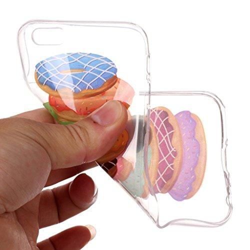 """Hülle für Apple iPhone 6S Plus / 6 Plus , IJIA Transparent Schädelkopf TPU Weich Silikon Stoßkasten Cover Handyhülle Schutzhülle Handytasche Schale Case Tasche für Apple iPhone 6S Plus / 6 Plus (5.5"""") XS72"""