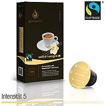 Gourmesso - cápsulas de café para cafetera Nespresso ® - 10 cápsulas de café compatibles (0,26 EUR/Cápsula) Soffio Vaniglia (Intensidad 5)