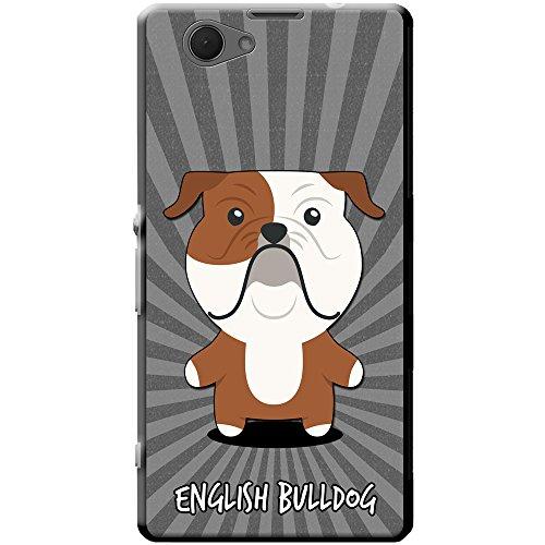 Englische Bulldogge, Britische Bulldogge Hartschalenhülle Telefonhülle zum Aufstecken für Sony Xperia Z1 Compact (Englische Bulldogge Valentine)
