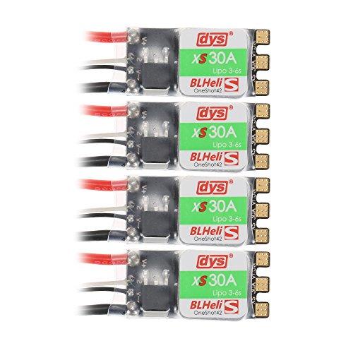 4 pezzi DYS XS30A 3-6 Lipo BLheli_S 30A Brushless ESC Supporta Oneshot125 per F450 Drone RC Quadcopter