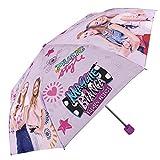 Maggie et Bianca Mode amis–Mini parapluie pour petite fille. Imprimé coupe-vent Parapluie avec boîte de présentation 50x 8cm 3sections