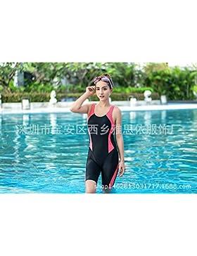 Presidente split _ en traje de baño ropa surf buceo de color puro, de una sola pieza de bañador dew back girl,...