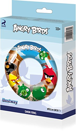 Image of Bestway Angry Birds Swim Ring - 36 inch, Multi-Colour