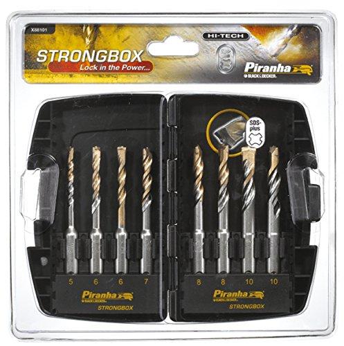 Preisvergleich Produktbild Piranha SDS-plus Bohrer-Set in Aufbewahrungsbox (8-teilig, 1 Stück) X88101
