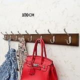 Popa garderobe Wandaufhänger, Bambus Wand Vitrinen, Küchenschränke Badezimmerwand Kleiderbügel (größe : 100cm)