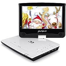 """Pumpkin Reproductor de Blu-ray DVD CD Portátil ( 10.1"""" Pantalla HD 4000mAh Batería ) soporta Dolby Audio / 1080P HD Video/ USB / SD / HDMI / AV-IN / AV-OUT"""