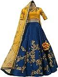 #10: Suppar Sleave Women's Tappeta Lehenga Choli (Multicolor_Free Size, Semi-Stitched)