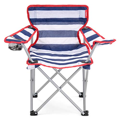 Kids Kinder klappbar Angeln Camping Wandern Picknick Garten Stuhl klappbar, Stripes Chair (Folding Chair Arm)