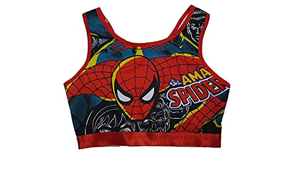 11b8dbfb41baa Marvel Comics Spider-Man Sports Bra - Red -  Amazon.co.uk  Clothing
