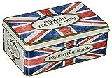 New English Teas - English Tea Selection (Breakfast, Earl Grey, Afternoon) 100 Tea Bags - Union Jack Vintage Tin