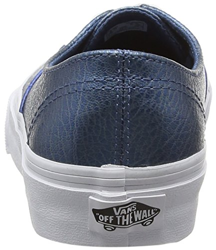 Vans Unisex-Erwachsene Authentic Decon Low-Top Blau (metallic Leather/blue)