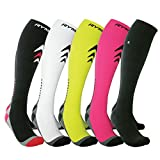 Compression Socks (Cushioned, Graduated Compression, Unisex for Men and Women) (One Pair) (White) (UK 10.5-13 / EU 45-47)
