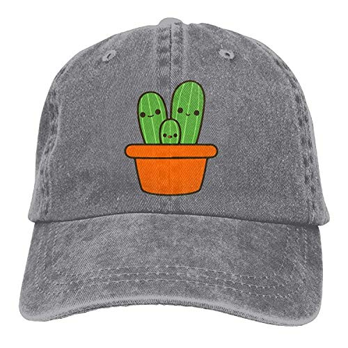 Cute Cactus In Orange Pot Vintage Jeans Baseball Cap -