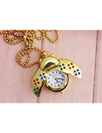 ShopyStore Gold 1Pcs Lot Gold And Silver Tles Pattern Jelly Quartz Pocket Watch Women Child Christ
