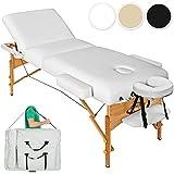 TecTake Table Lit de Massage Pliante Portable - diverses couleurs au choix (Blanc)