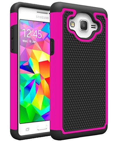 Galaxy ON5Fall, Galaxy G550Fall, MCUK [Stoßdämpfung] Drop Schutz Hybrid-Dual-Layer Defender Schutzhülle für Samsung Galaxy ON5/G550, Schwarz/Rosé