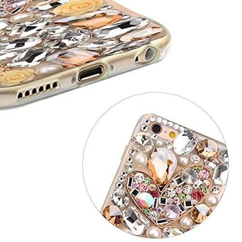 MOMDAD TPU Soft Etui pour iPhone 6S Plus Strass Coque iPhone 6 Plus TPU Silicone Coque iPhone 6 Plus Souple Etui pour iPhone 6 Plus/ 6S Plus 5.5 Pouces Anti-rayures et Anti-Choc Couverture Coquille Ar PC-Diamant-7