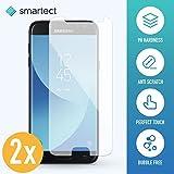 smartect Samsung Galaxy J5 2017 Panzerglas Folie - Displayschutz mit 9H Härte - Blasenfreie Schutzfolie - Anti Fingerprint Panzerglasfolie [2 Stück]