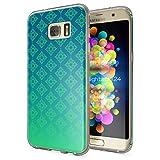 NALIA Handyhülle für Samsung Galaxy S7 Edge, Slim Silikon Motiv Case Hülle Cover Crystal Schutzhülle Dünn Durchsichtig, Etui Handy-Tasche Backcover Transparent Bumper, Designs:Pattern Grün