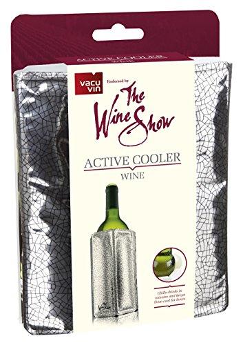 Der Wein Show von Vacu Vin Active Kühler, Silber
