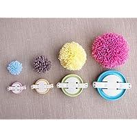 Maxs 4taglie pompon pom-pom Maker for Fluff Ball DIY lana knitting Craft Tool set