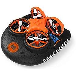 EACHINE E016F, Hovercraft Drone, Mini Drone para Niños, 2.4GHZ Modo sin Cabeza, Deformable Anfibio