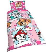 Patrulla Canina - Conjunto de cama reversible de niños para cama doble (Cama Individual/Rosa)