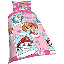 NEW Paw Patrol étoiles Simple Housse de couette parure de lit chambre fille  rose 9e3ad0cb637d