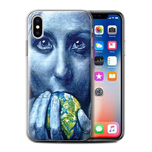 Stuff4 Gel TPU Hülle / Case für Apple iPhone X/10 / Reise/Schiff Muster / Städtisch Straße Kunst Kollektion Süß Erde