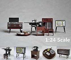 Vintage Japanese Japan Furniture Dollhouse Miniature Fridge Magnet Figure Toy